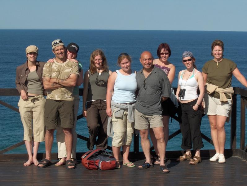 volunteers on beach trip