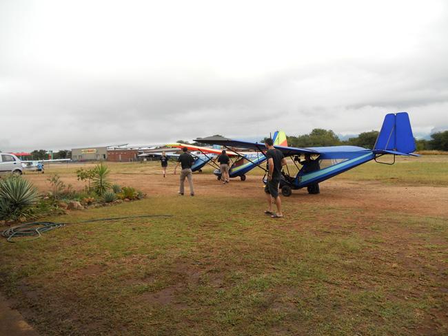Micro light gliders at hoedspruit