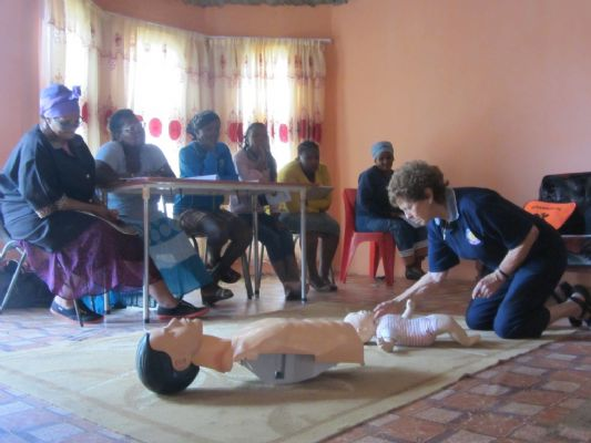 Day care centre staff are trained in first aid thanks to donations from Myerscough college