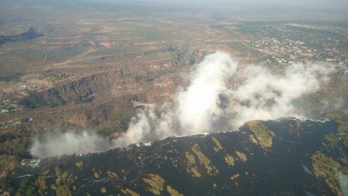 An incredible view of Victoria Falls