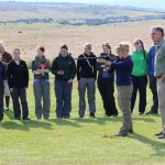 Vet Eco Safari Experience volunteers admire another volunteer's darting accuracy