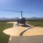 A helicopter on the karoo landing spot