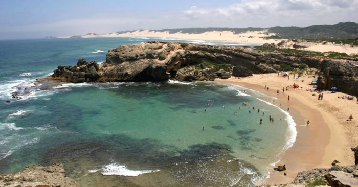 Shelly's beach in South Africa