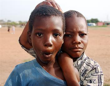 Two local children