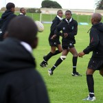 Teenage boys play rugby in South Africa