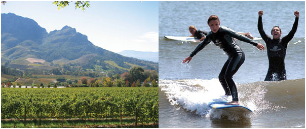 Wine tasting and surfing tour