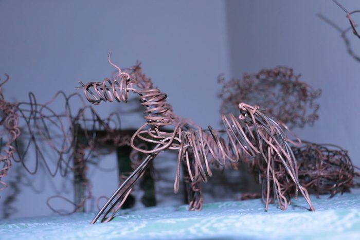 A horse made from recycling at the shamwari